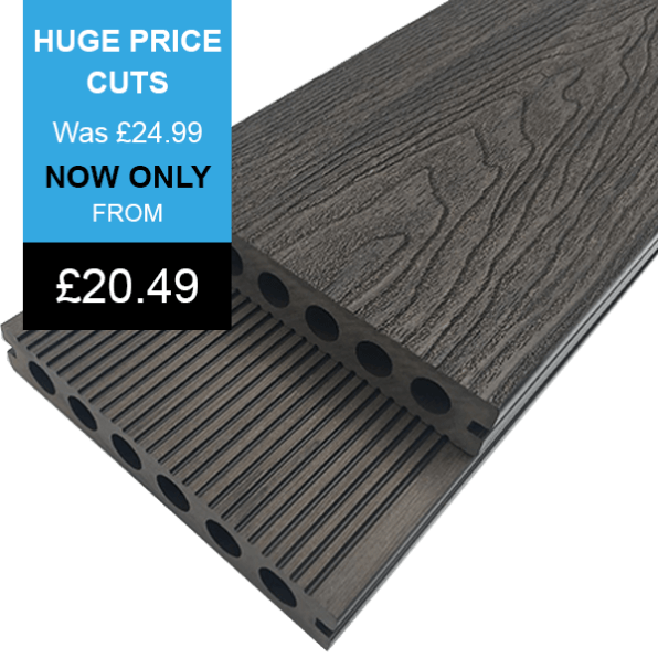 Chocolate Premier Range Composite Decking Banner With Price