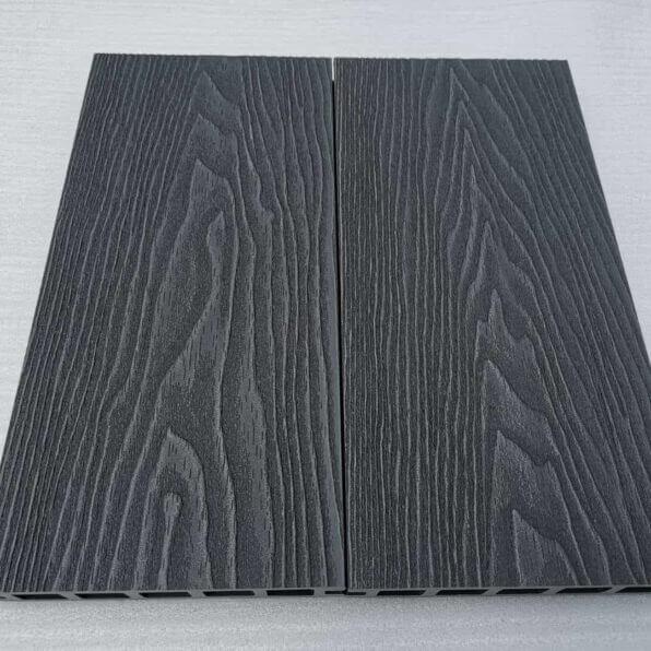 Anthracite Grey Composite Decking Board – Dimensions 3.6m 140mm 25mm – Reverisble Deep Emboosed Wood Grain Boards – Slip & Scratch Resistant