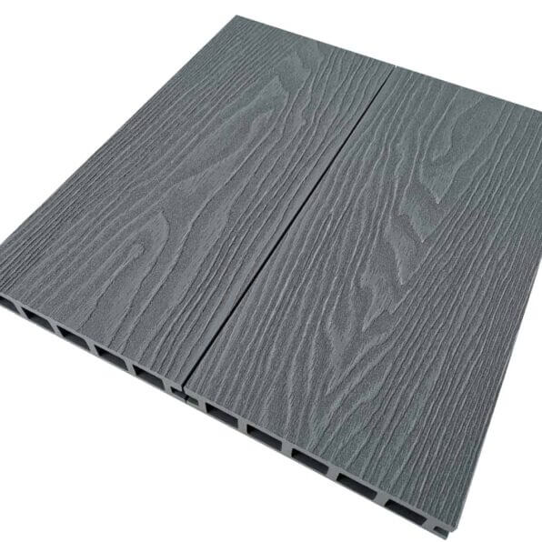 Grey-Composite-Decking-Board-Dimensions-3.6m-140mm-25mm-Reverisble-Deep-Emboosed-Wood-Grain-Boards-Slip-Scratch-Resistant