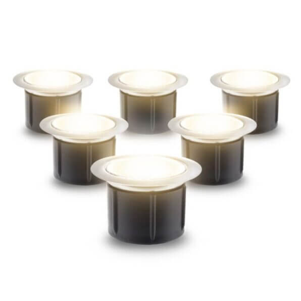 40mm warm white led composite decking lights